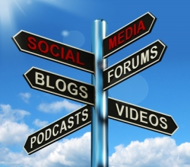 """Social Media Signpost"" by Stuart Miles"