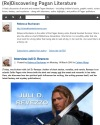 My interview at BookMusings; Druid Warrior's Heart; Juli D. Revezzo