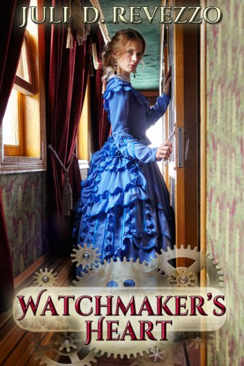 Watchmaker's Heart, Juli D. Revezzo, Victorian romance, steampunk, clockpunk, gentleman hero, debutante, women's suffrage, love, family, friendship, inventor, women inventors, aromatherapy; Victorian London, borrow free with Amazon Prime