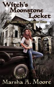 Witch's Moonstone Locket by Marsha A. Moore, New adult paranormal romance, witch fiction