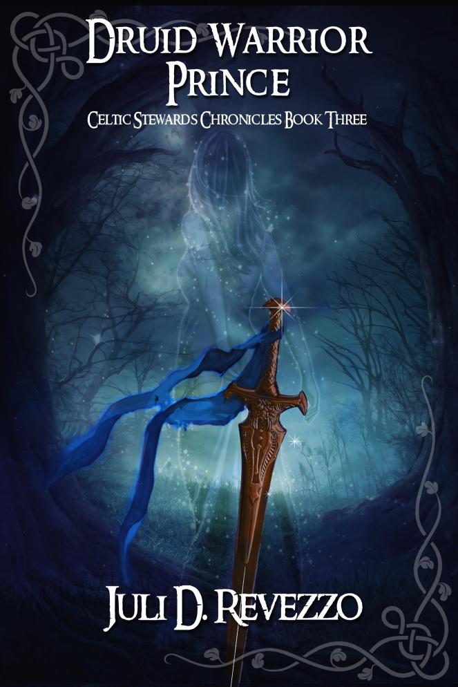 Druid Warrior Prince by Juli D. Revezzo, fantasy romance, Medieval romance