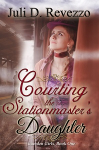 Courting the Stationmaster's Daugher by Juli D. Revezzo, Victorian Romance, new Historical romance, Juli D. Revezzo, jilted bride, older man younger woman romance