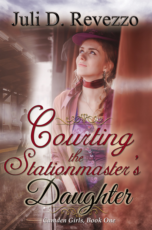 Courting the Stationmaster's Daugher by Juli D. Revezzo, Victorian Romance, new Historical romance, jilted bride, older man younger woman romance, Scottish hero, Irish hero, historical romance young adult, historical young adult fiction, historical romance clean, historical girls, Shy heroine