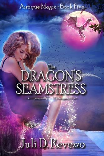 The Dragon's Seamstress, Antique Magic book five, by Juli D. Revezzo, urban fantasy, dragons