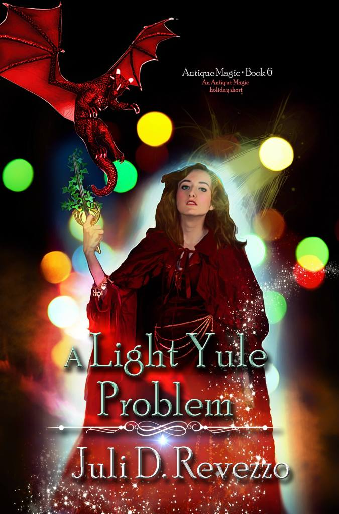 New Antique Magic story for Christmas, fantasy stories, urban fantasy, Christmas, A Light Yule Problem by Juli D. Revezzo