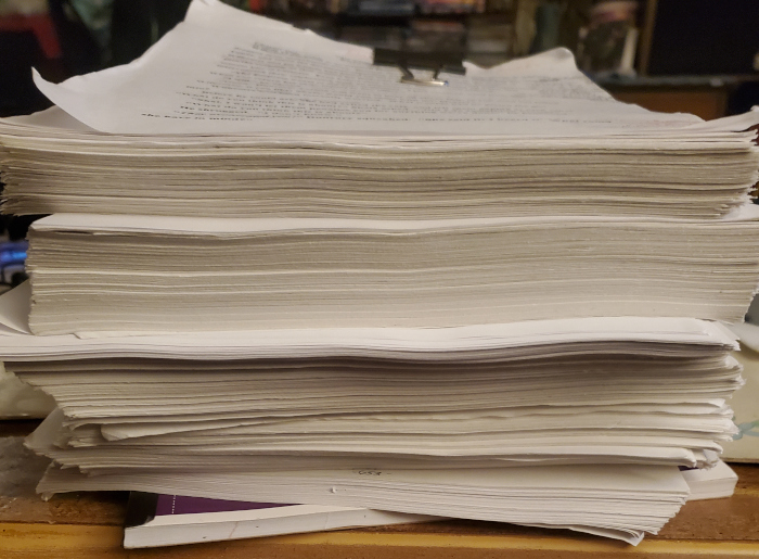 Juli's megaproject pile of papers