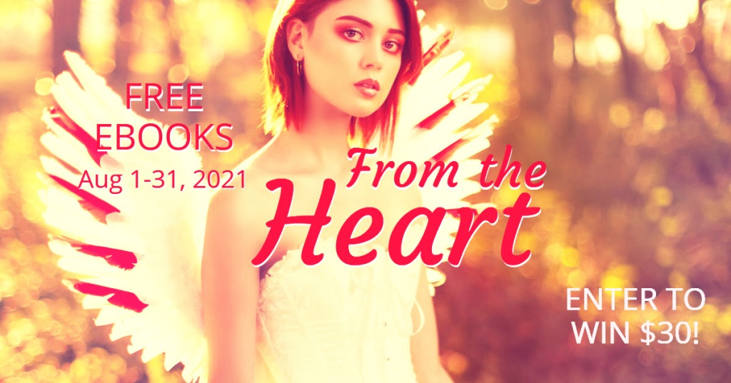 From the heart Giveaway. Win and get some free books to boot, Romance, historical romance, contemporary romance, authors, readers, freebies. join my newsletter, Juli D. Revezzo, Heidi Vanlandingham, Rachel Branton, and more.